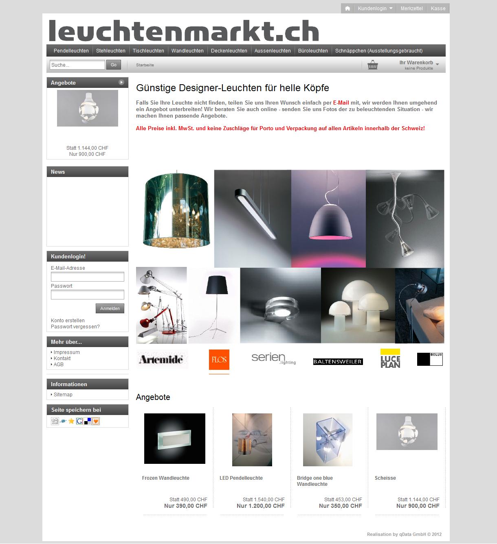 Leuchtenmarkt.ch by Brenner Licht, Wil SG | leuchtenmarkt.ch