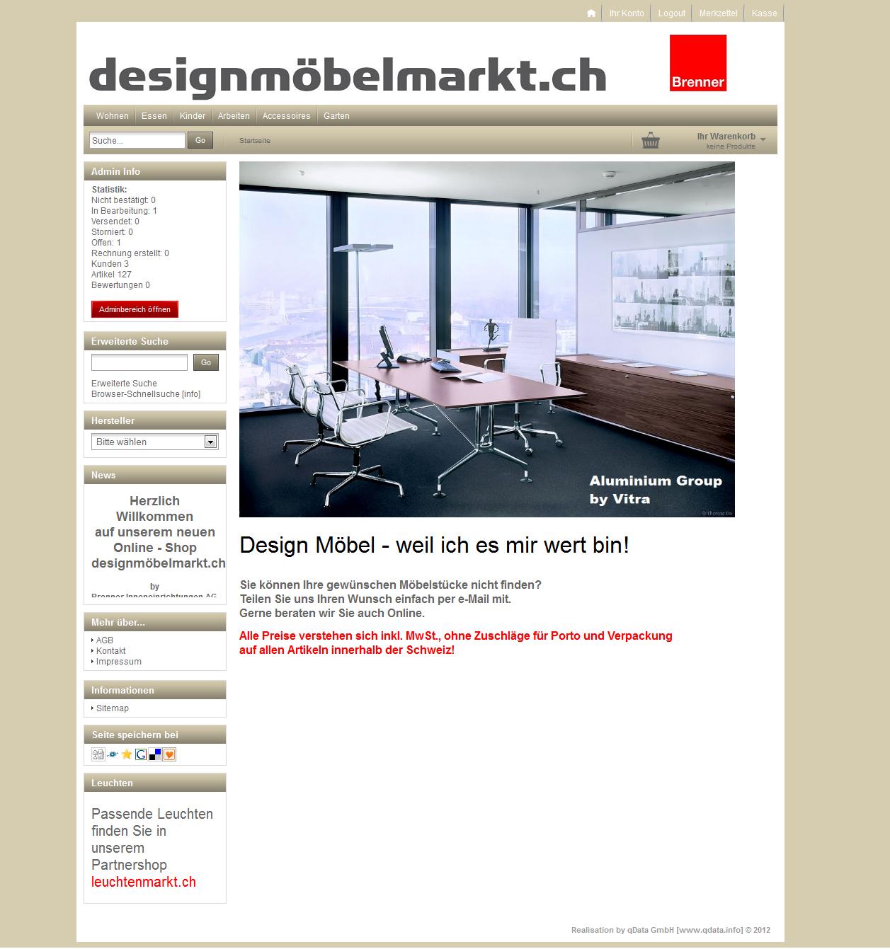 Designmöbelmarkt.ch by Brenner Inneneinrichtungen AG, Wil SG