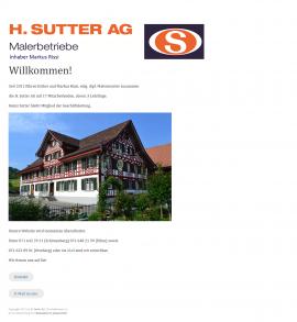 MalerSutter.ch Microsite für Malergeschäft