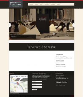Screenshot Ristorante Belluno - www.ristorantebelluno.ch