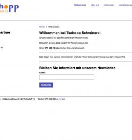 Screenshot Schreiner Thurgau Schreinerei Thurgau